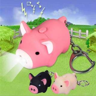 Preorder Cute pig keychain with led, sounds
