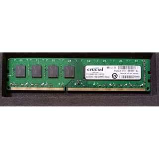 Crucial ddr3 1600mhz 4gb CL 11 memory
