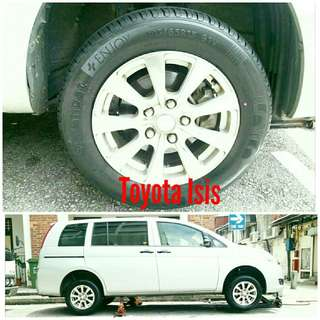 Tyre 195/65 R15 Membat on Toyota Isis 🐓 Super Offer 🙋♂️