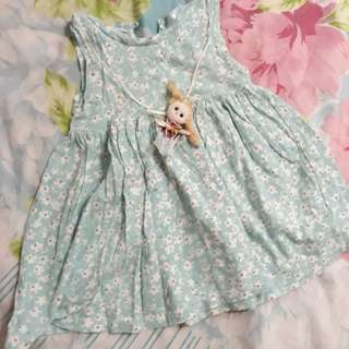 Baby mint green dress