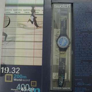 Swatch手錶 麥可強森(Michael Johnson) 1996亞特蘭大奧運