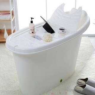 PORTABLE PLASTIC BATHTUB / HDB BATHTUB / SMALL SOAKING TUB / ADULT BATHTUB / RELAX / CHEAP