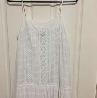 Piper white maxi dress