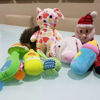 Dog toys preloved