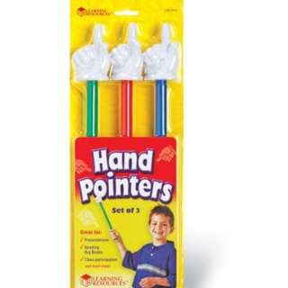 "Learning Resources 15"" Hand Pointers. Set of 3"