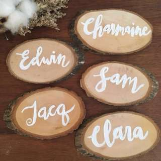 Customized Painted Wood Slices