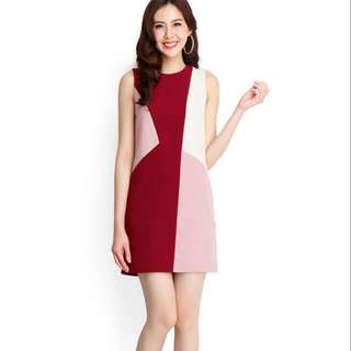 Color Parade Dress In Wine Red (Lilypirates)