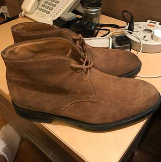 Tods Boots Suede Leather Coklat