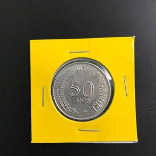 Singapore 1970 50 Cent Coin