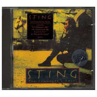 1993 Sting - Ten Summoner's Tales CD Album (Rare & Out Of Print!)