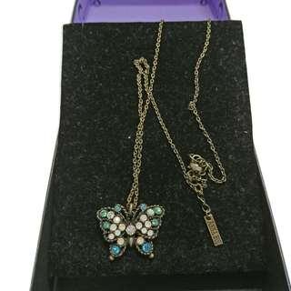 Anna Sui 古典蝴媟頸鏈 日本製造 真品