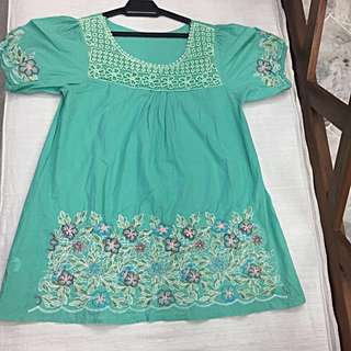 CNY Sale -Emerald Green Blouse