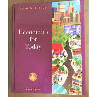 Economics for Today 4 Edition Irvin B. Tucker Pre-owned