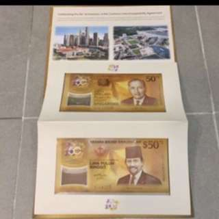 $108 with Cover SG50 Commemorative Notes
