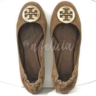 TORY BURCH Brown Flat Shoes