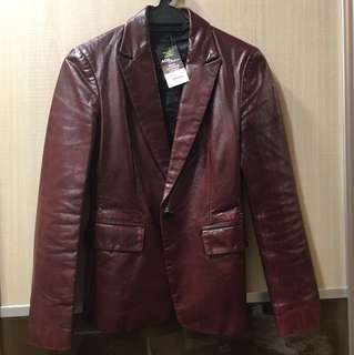 100% real leather jacket