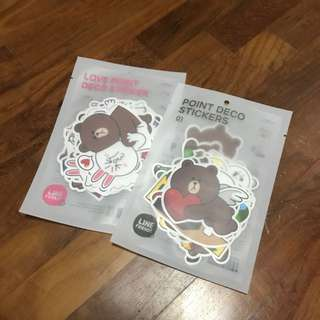 authentic line friends laptop sticker set