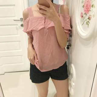 Pink blouse top