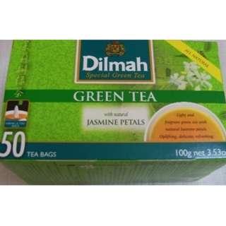 Dilmah Green Tea with Jasmine Petals 帝瑪茉莉花茶( 50 Tea Bag ) 100g