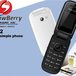 Handphone Strawberry Mirip Samsung Caramel DUAL SIM