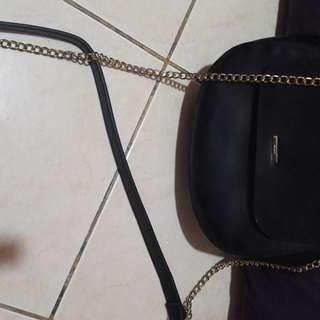 Sling Bag Bershka black