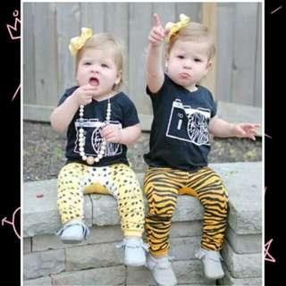 Newborn Baby Boy Girl Animal Printed Pants 🍀