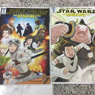 Star Wars Adventures #1 & #2 idw comics not marvel but animated version idw releases 2017/2018