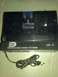 VIDEOTAPE CLEANER&REWINDER VC-9099 2WAY