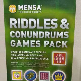 Mensa Riddles and Conundrums Games Pack
