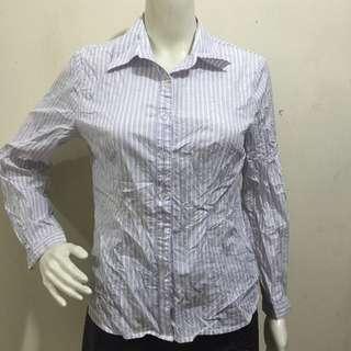 BALLON light lavender polo blouse small