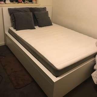 IKEA DOUBLE BED FRAME + MATTRESS