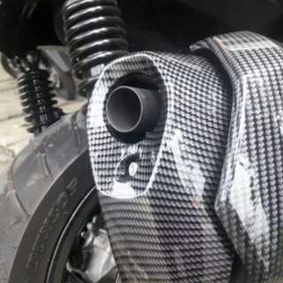 Xmax muffler tip carbon cover