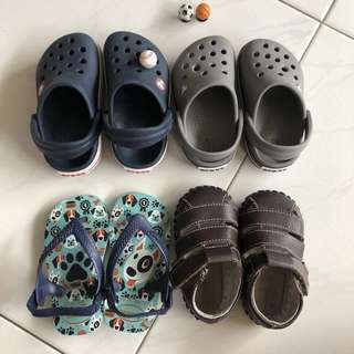 Toddler shoes - Pediped and Havaianas