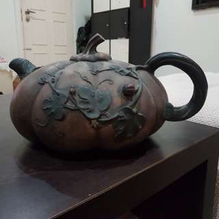 Big Size Melon Antique Teapot