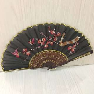 Foldable fan - black