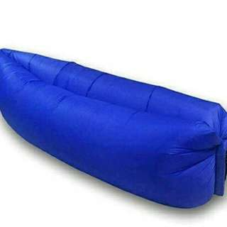 Fast Inflatable Camping Banana Bed (Blue)