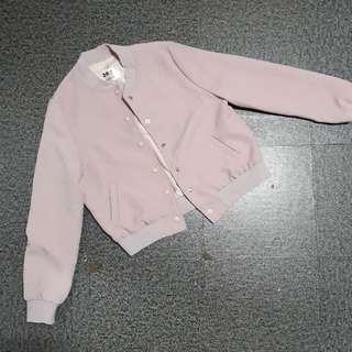 Bomber jacket pastel pink