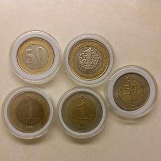 土耳其 lira turkey 錢幣 硬幣