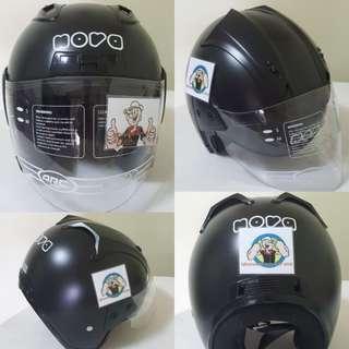 0502***Nova Matt Black Helmet For Sale 😁😁Thanks To All My Buyer Support 🐇🐇 Yamaha, Honda, Suzuki