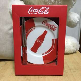 可口可樂 碟筷套裝 Coca-Cola Plate & Chopsticks set