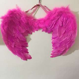 Pink Feather Angel Wings (Rent)
