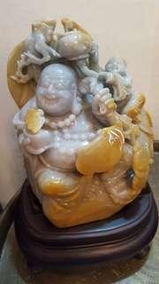 Laughing buddha - jade