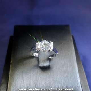 實物拍攝 超閃主石1卡十心十箭公主之吻高炭鑽925純銀6層包金戒指,可訂造任何圈碼