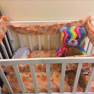 Crib with foam and bumper