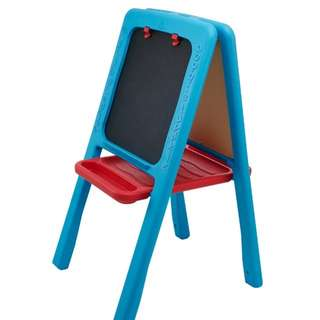 2-sided chalkboard and whiteboard easel
