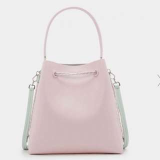 Charles and Keith TOP HANDLE BUCKET BAG