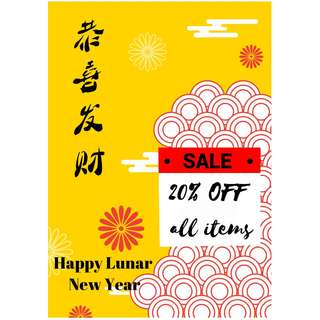 🌟 Chinese New Year's Promotion - 20 % OFF ALL ITEMS (Baby Toddler Apparel)