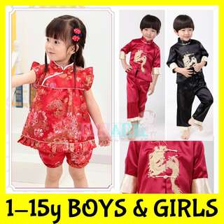 ★READY STOCK FAST DELIVERY★FREE GIFTS★PREMIUM CNY Traditional Chinese New Year Costumes Cheongsum Boys Girls★Qipao Dress Pants Shirt Kids Children★Racial Harmony Day