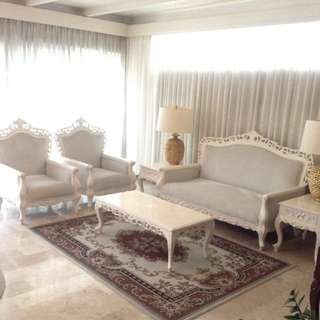 White Antique Narra Sala Set