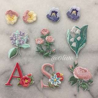 Instock Flower Embroidered Iron On Patches